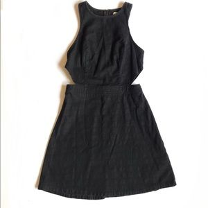 Hollister Side Cutout Fit And Flare Skater Dress